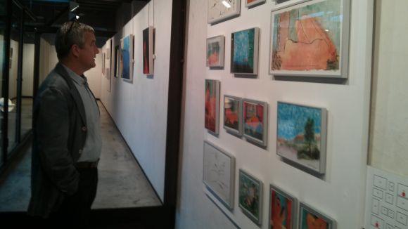 L'artista Perico Pastor, en l'exposició