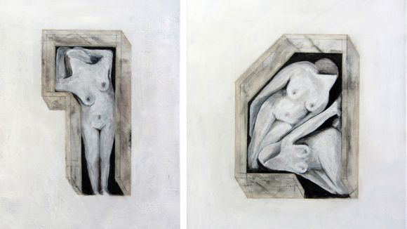 Detall de l'obra 'Perímetres' d'Anna Fando