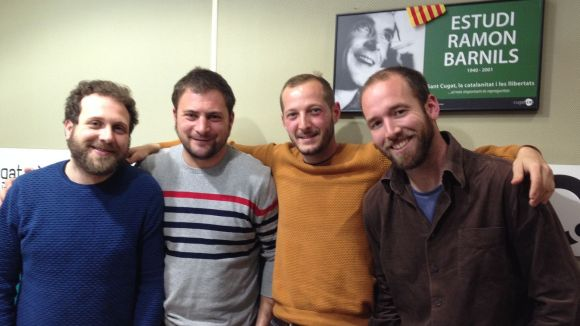 Iván Nalvaiz, Pau Sans, Gerard de Pablo i David Curto