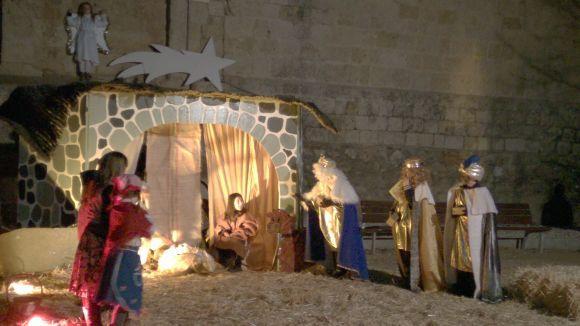 El Pessebre Vivent porta un any més la màgia del Nadal als Jardins del Monestir