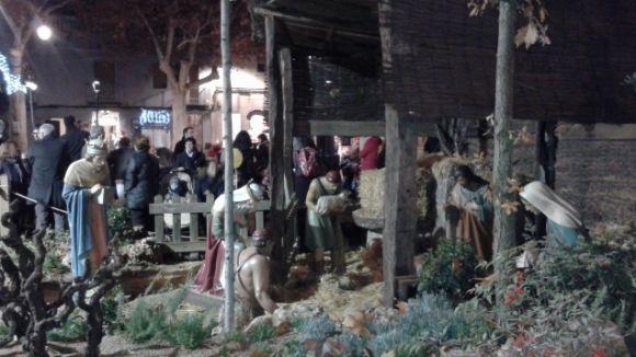 Jesús, Josep, Maria i els Reis ja esperen als santcugatencs a la plaça de Barcelona