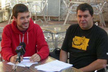 Bernat Picornell, a l'esquerra, i David Pujol són membres de la direcció del Teatre la Unió