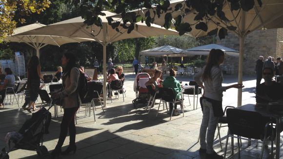 800 signatures contra la reducció d'espai de les terrasses a la plaça d'Augusta