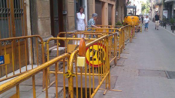 Obres pel manteniment de la xarxa de gas al carrer Plana de l'Hospital
