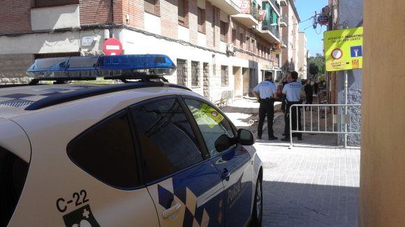 La Policia Local, al lloc de la incidència