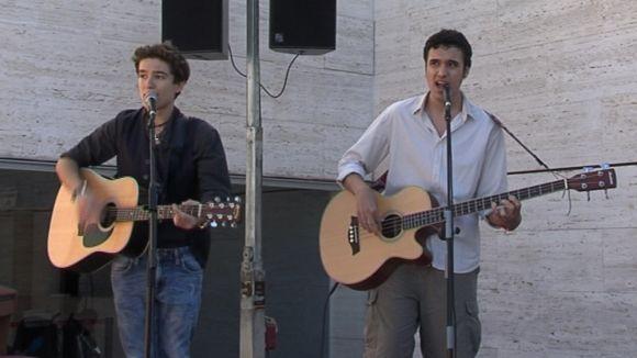 El duet format per Iñaki Ramos i Eduard Rubio en l'actuació dels Petits Talents
