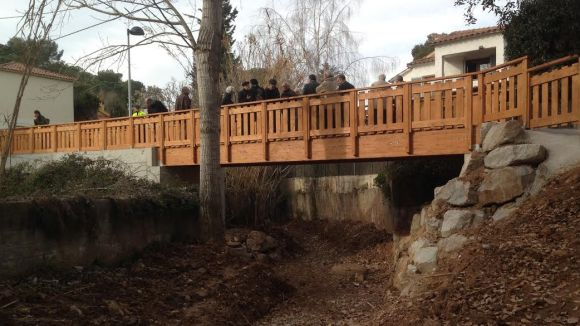 Valldoreix inaugura un pont i una plataforma sobre el torrent d'en Nonell