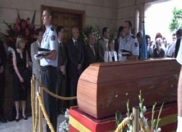 Moment del funeral a Andratx, Mallorca