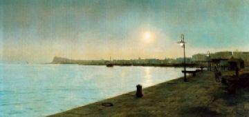 Descobreixen una pintura amagada sota l'obra 'El port de Barcelona' de Meifrèn