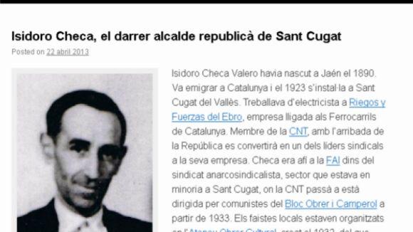 Un blog acosta la història de Sant Cugat entre el 1931 i 1941
