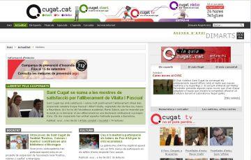 Rècord d'audiència de Cugat.cat: 32.725 usuaris s'informen amb el grup multimèdia