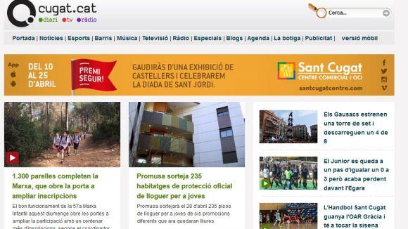 Cugat.cat tanca el març amb un nou rècord d'audiència, amb 56.770 usuaris
