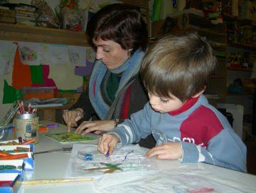 Èxit de participació de pares i nens en 'L'art en família' de Pou d'Art