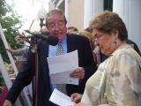 D'Ossó i Sansa en el moment del pregó de Festa Major.