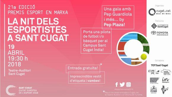 Ja es poden recollir les entrades per assistir a la 21a Nit de l'Esport de Cugat.cat