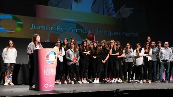 El Junior femení d'hoquei herba, Millor Equip Sènior als Premis Esport en Marxa