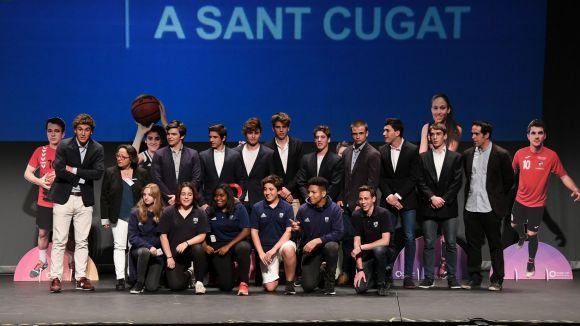 El sub 16 del Rugby Sant Cugat, millor conjunt júnior / Font: Localpress