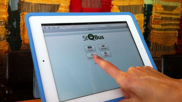 Imatge de la nova aplicació mòbil per consultar els horaris dels autobusos de la ciutat