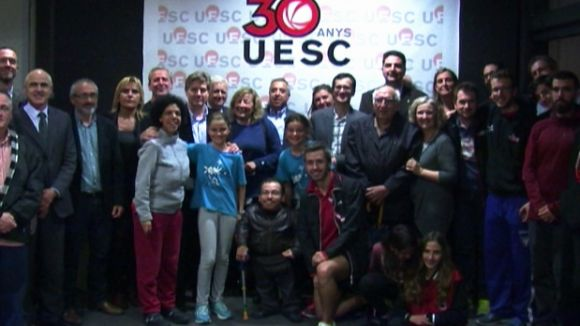 La foto de família del 30 aniversari de la UESC