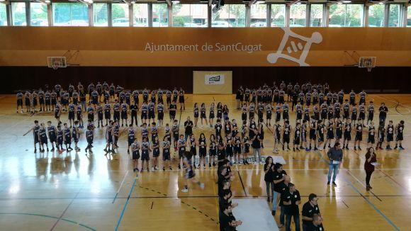 Imatge de la presentació dels equips del Qbasket Sant Cugat de la temporada passada