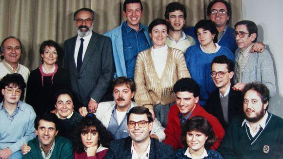 Primer equip de Ràdio Sant Cugat