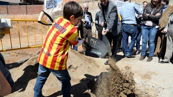 La primera pedra s'ha col·locat aquest dissabte / Foto: Localpres
