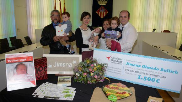 Jimena Olmedo, primera santcugatenca de l'any, rep la benvinguda de la ciutat