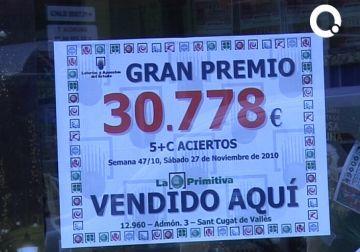 La Primitiva deixa 30.000 euros a Sant Cugat
