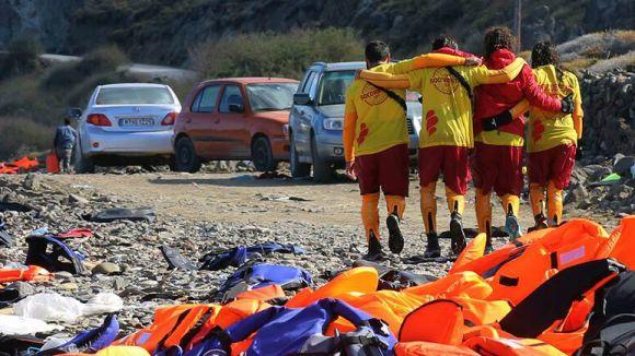 Proactiva Open Arms treballa a la costa de Lesbos /Foto: Proactivaopenarms.org