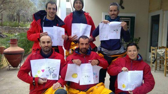 Alumnes del Turó de Can Mates envien cartes de suport als nens sirians refugiats