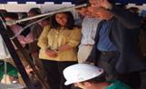 L'alcalde Lluís Recoder a l'acte de col·locació de la primera pedra de la promoció de Can Cabassa de Promusa