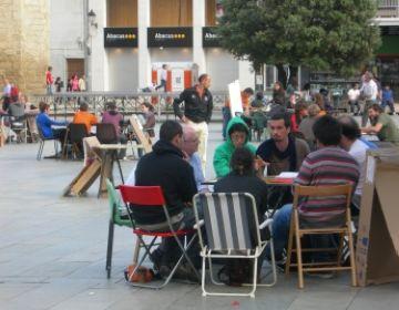Els acampats de Sant Cugat han recollit propostes per al nou consistori