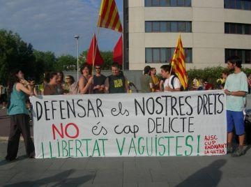 L'Esquerra Independentista protesta contra les últimes detencions del 29M