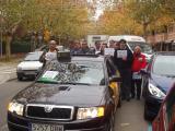 Els conductors s'han manifestat aquest migdia pel centre de la ciutat