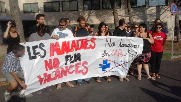 Protesta davant el CAP de Valldoreix, el juliol passat