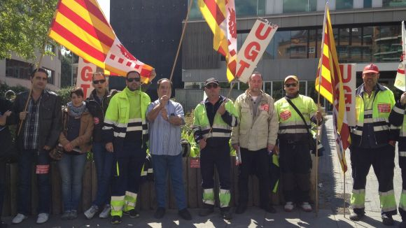 Valoriza i els empleats de la neteja viària, d'acord en els serveis mínims de la vaga