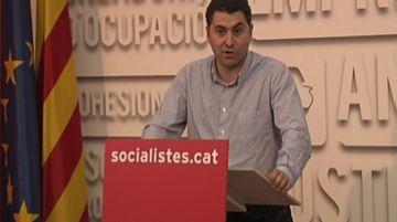 Ferran Villaseñor, durant la nit electoral