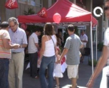 El PSC treu el finançament al carrer