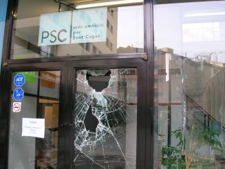 Els Mossos d'Esquadra investiguen les proves per identificar els autors dels fets
