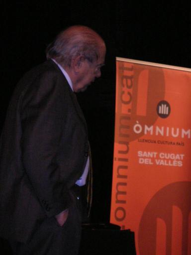 Jordi Pujol encandila un Teatre la Unió ple a vessar