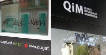Guixen les pantalles de dos dels QIM acabats d'estrenar i els vidres de Cugat.cat