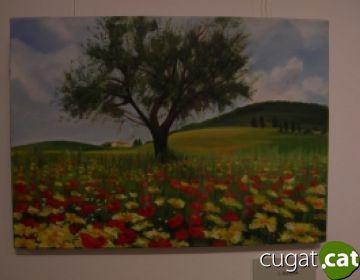 El color i l'alegria, protagonistes de l'exposició 'Les Flors' de Teresa Pelfort