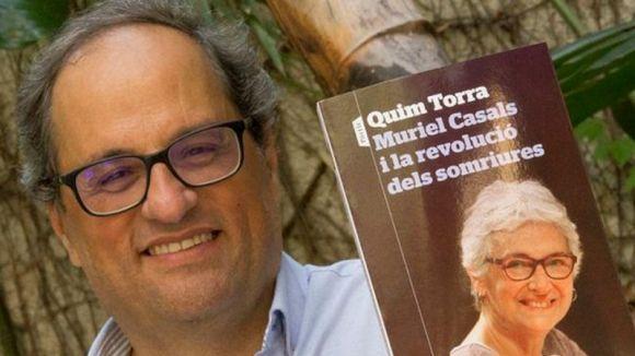 Quim Torra presenta el llibre 'Muriel Casals i la revolució dels somriures' a la Festa de Tardor