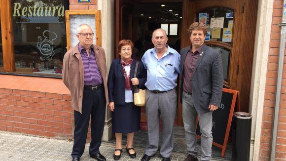 Els distingits d'enguany amb el president del Centro Castellano-Manchego