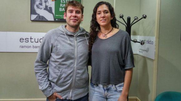 Rafa Ruiz i Laura Brun, a l'estudi Ramon Barnils