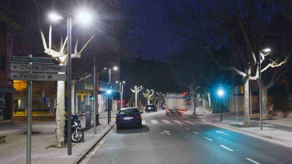 Talls de carrers al centre en horari nocturn per actuació a l'enllumenat