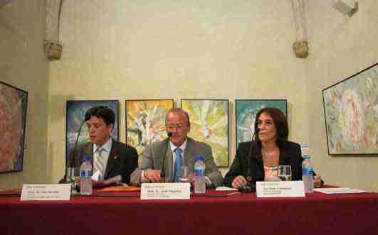 Jordi Vilajoana amb Lluís Recoder i Ester Franquesa.