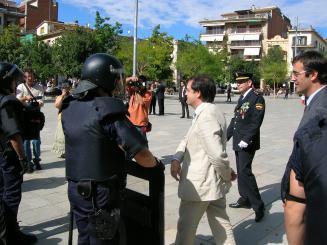 Rangel, durant la parada del cos policial