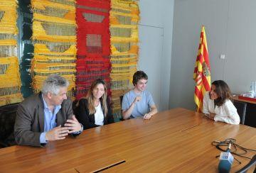 Recepció a l'Ajuntament per a l'alumne guanyador de l'Olímpiada Nacional de Física