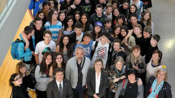 Estudiants santcugatencs i francesos estrenyen lligams